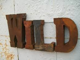 Rustic Metal Letters For Wall Decor • Walls Decor