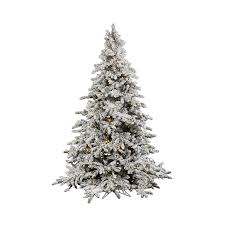 5ft Pre Lit White Christmas Tree by Shop Vickerman 7 5 Ft 1650 Count Pre Lit Flocked Artificial