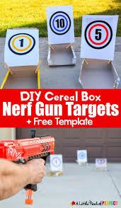 DIY Cereal Box Nerf Gun Targets And Free Template Grab Your Guns Get Ready To Take Aim At New Homemade Following Our Easy