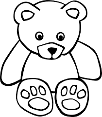 Gerald g Simple Teddy Black White Art Coloring Book SVG colouringbook