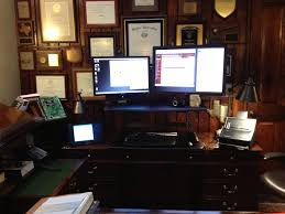 Dual Screen Standing Desk by Eastern District Of Texas Federal Court Practice Law Office