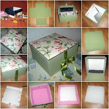 How To Make Beautiful Cardboard Textile Storage Box Step By DIY Tutorial Instructions Do Diy Crafts It Yourself