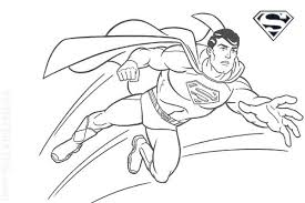 Boys Free Coloring Page Superman