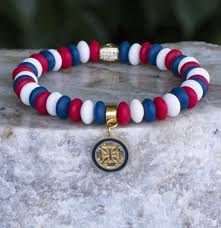 Rustic Cuff 4th Of July Alex Red White And Blue In Gold