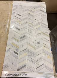 Sneak peek at our in ing Chevron marble mosaics Which is