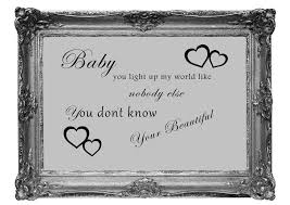 quotes baby you light up my world 1d grey wall murals