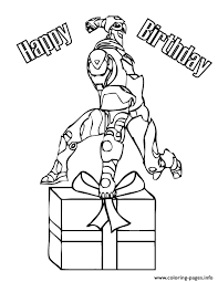 Iron Man With Birthday Present Coloring Pages