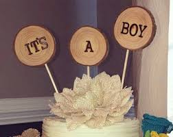Its A Boy Cake Topper Baby Woodland Shower
