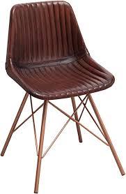 riess ambiente de design stuhl toro echtleder braun gesteppt