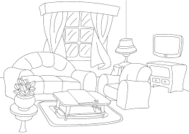 Color Living Room Print And Activities For Kids