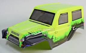 100 Rc Truck Bodys BODY SHELL 110 JEEP WRANGLER 280mm PRE Painted Finished