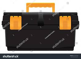 Portable Plastic Tool Box Organizer Industrial Stock Vector (Royalty ...