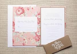 Pink Floral Wedding Invitations For A Vintage