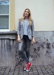Outfit Red Converse All Stars Nikki Bergmans