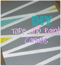 DIY Tape Paint Canvas Art