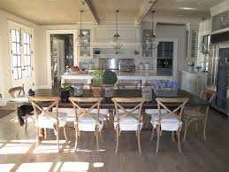 Rustic White Country Kitchens Kitchen Bistro Style Chairs
