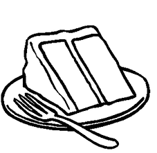 Chocolate Cake clipart black and white 8
