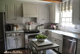 Dear Lillie How We Painted Our Kitchen Cabinets Two Approaches for