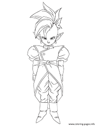 Dragon Ball Cartoon Character Coloring Page Pages