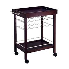 Locking Liquor Cabinet Amazon by Amazon Com Winsome Wood Bar Cart Espresso Finish Kitchen U0026 Dining