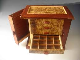 Mens Dresser Valet by Handcrafted Necklace Holders Jewelry Box Made Of Exotic Wood With