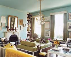 Green And Turquoise Living Room View Full Size