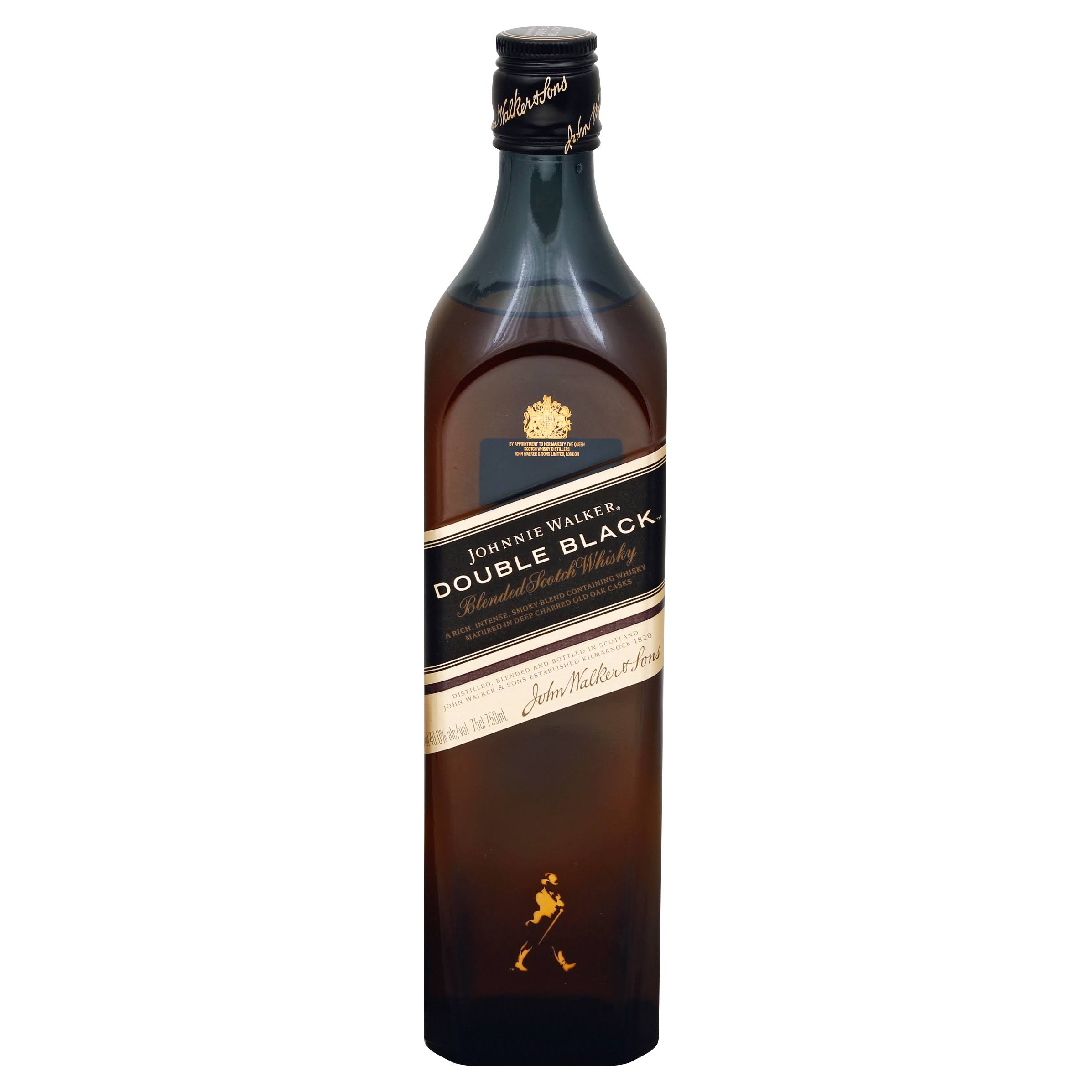 Johnnie Walker Double Black Blended Scotch Whiskey - 750 ml bottle