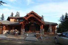 Timber Frame Log Homes Precisioncraft Wood River Home Plan Uber
