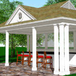 Harmonious Pool Pavilion Plans by Frank Smith Design Goodwin Classic Homes Byrd Pool Pavilion