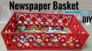 How To Make Basket From Newspaper And Cardboard