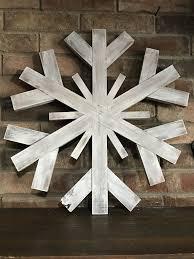 Extra Large Wood Snowflake