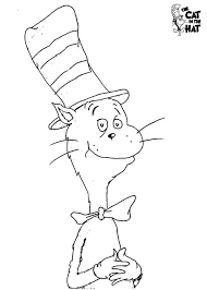 How To Draw Dr Seuss The Cat In Hat Coloring Page