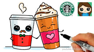How To Draw A Frappuccino And Hot Coffee