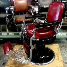 Emil J Paidar Barber Chair Headrest by Avail Chairs Antique Barber Chair Restoration Metal