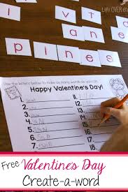 Free Printable Valentine s Day Create a Word Activity