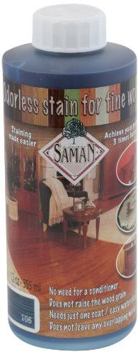 Saman TEW-106-12 Interior Water Based Stain for Fine Wood, Azure, 12 Ounce
