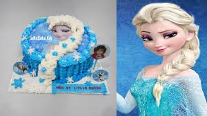 Frozen Elsa Cake Topper Edible Icing How to Make Birthday Cake