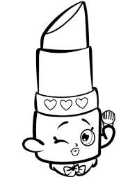 Click To See Printable Version Of Beauty Lippy Lips Shopkin Coloring Page