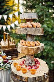 Donuts And Cider Rustic Outdoor Fall Wedding Ideas