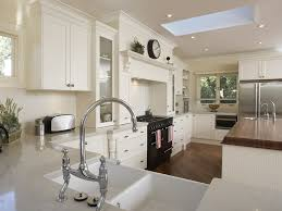 Antique White Kitchen Design Ideas by Minimalist Kitchen Design With Straight To Wall Layout And Clean