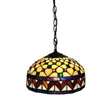Home Depot Tiffany Style Lamps by Amora Lighting 2 Light Tiffany Style Hummingbirds Floral Pendant