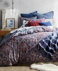 Kenneth Cole Reaction Bedding by Lucky Brand Brooke Navy Reversible King Comforter Set Created For