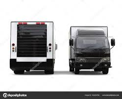 Small Black Box Trucks Front Back View — Stock Photo © Trimitrius ...