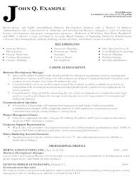 Business Manager Resume Template Development Managers