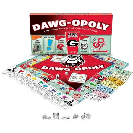 Late for The Sky Dawg University of Georgia Dawgopoly Board Game