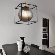 etc shop led pendelleuchte kugel hängele kugel len esszimmer pendelleuchten wohnzimmer rauchkugel metall 6 watt filament led e27 warmweiß