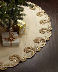 72 Inch Christmas Tree Skirts by Champagne Scroll Christmas Tree Skirt Horchow Pinterest