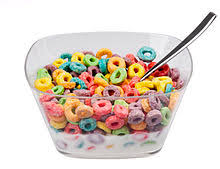 A Bowl Of Froot Loops With Milk