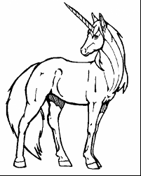 Good Easy Unicorn Coloring Pages With And To Print