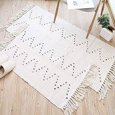 hi home 2er set teppich für wohnzimmer boho baumwolle